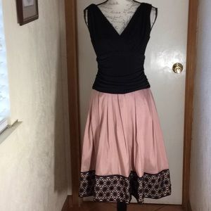 Dresses & Skirts - Pink and black dess  polyester spandex